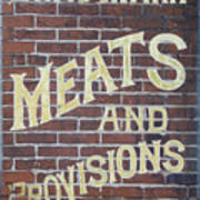 David Mann - Meats And Provisions Poster
