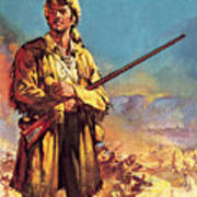 Davy Crockett  Hero Of The Alamo Poster