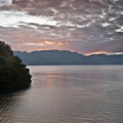 Dawn At Casa De Mundo Lake Atitlan 1 Poster