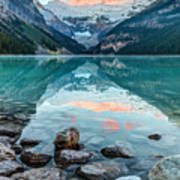 Dawn At Lake Louise Poster
