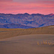 Dawn At Mesquite Flat #3 - Death Valley Poster