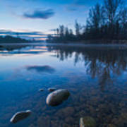 Dawn At River Poster