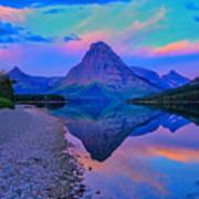 Dawn At Two Medicine Lake Poster