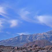 Dawn Eastern Sierra Nevada Mountains Poster