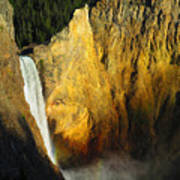 Dawn, Lower Falls Of The Yellowstone Poster