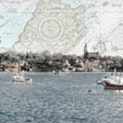 Dawn On Marblehead Harbor Poster