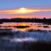 Dawn Over The Salt Marsh Poster