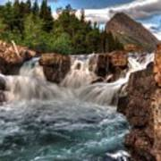 Dawn Upon Swiftcurrent Falls  Poster