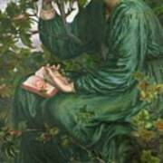 Day Dream Poster by Dante Charles Gabriel Rossetti