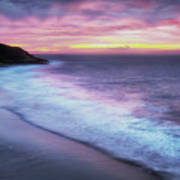 Daybreak At Caswell Bay Poster