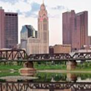 Daytime View Of Columbus Over The Scioto Poster