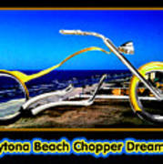 Daytona Beach Chopper Dreaming Yellow Gold Jgibney The Museum Poster