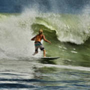 Daytona Beach Surfing Day Poster