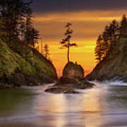 Deadman's Cove At Cape Disappointment State Park Poster