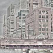 Dearborn Street Bridge Poster