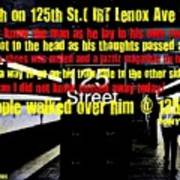 Death On 125th St. Irt Lenox Ave Line Poster