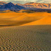 Death Valley Golden Hour Poster