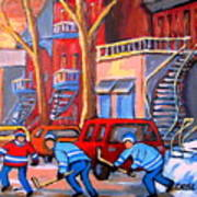 Debullion Street Hockey Stars Poster by Carole Spandau