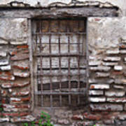 Decaying Wall And Window Antigua Guatemala 2 Poster