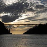 Deception Pass Bridge Sunset Two Poster