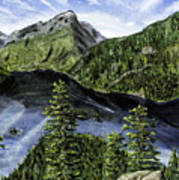 Deception Pass Painting Poster