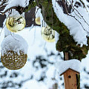 Decorations In The Snow Poster