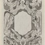 Decorative Design With Angels, Carel Adolph Lion Cachet, 1874 - 1945 Poster