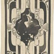 Decorative Design With Four Coats Of Arms, Carel Adolph Lion Cachet, 1874 - 1945 Poster