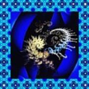 Decorative Fractal Tile 3 Poster
