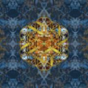 Decorative Gemstone Sacred Geometry Flower Of Life   Poster