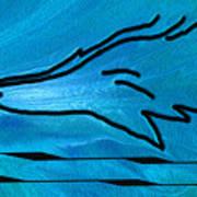Deep Blue Poster by Ben and Raisa Gertsberg
