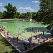 Deep Eddy Pool Is A Family Friendly, Family Fun, Public Swimming Pool In Austin, Texas Poster