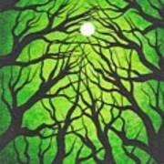 Deep Green Forest Poster