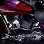 Deep Red Harley Poster
