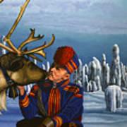 Deer Friends Of Finland Poster