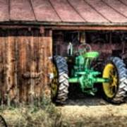 Deere In The Barn Poster