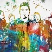 Deftones Paint Splatter Poster