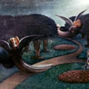 Degouve: Angels, 1894 Poster