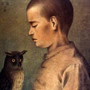 Degouve: Child & Owl, 1892 Poster