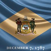 Delaware State Flag Poster
