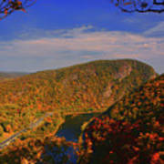 Delaware Water Gap In The Fall Poster