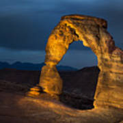 Delicate Arch At Night Poster by Adam Romanowicz