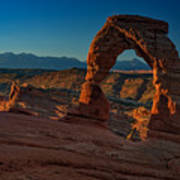Delicate Arch At Sunrise Poster