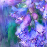 Delphinium Abstract Poster
