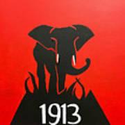 Delta Sigma Theta Elephant Art Print By Omari Slaughter