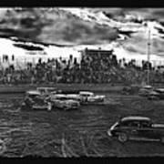 Demolition Derby Rain Storm Clouds #1 Tucson Arizona 1968 Poster