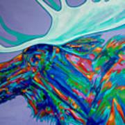 Denali Moose Head Poster