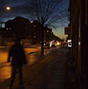 Denmark, Copenhagen, Man Walking Poster