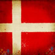 Denmark Flag Poster by Setsiri Silapasuwanchai