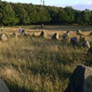 Denmark, Lindholm Hoeje Viking Burial Poster